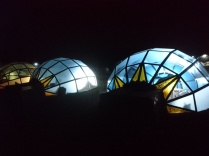 Skydomes bei Nacht