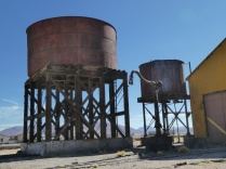 die Wassertanks aus alten Dampflokzeiten