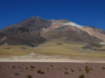 der Cerro del Azufre (=Schwefel) 5800m