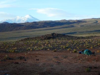 Zeltplatz mit Ausblick auf den Cerro Polapi 5949m