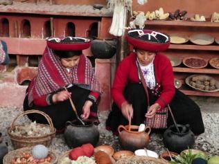 Wolle färben in Chinchero