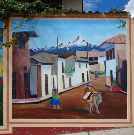 In Huaraz an einer Hauswand