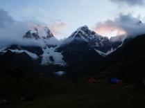 Abendblick auf den Yerupaja 6635m