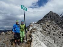 am Siula-Pass, tatsächlich 4830m