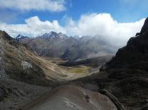 Blick vom Cuyoc-Pass aufs Campamento Elefante
