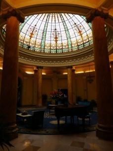 Das Foyer des Grand Hotel Bolívar