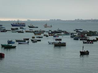 Fischerboote vor Millionenstadt